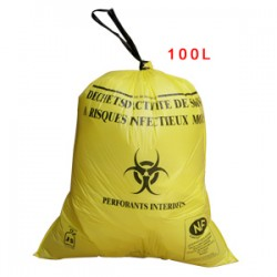 Sac plastique jaune 100L standard pour D.A.S.R.I.